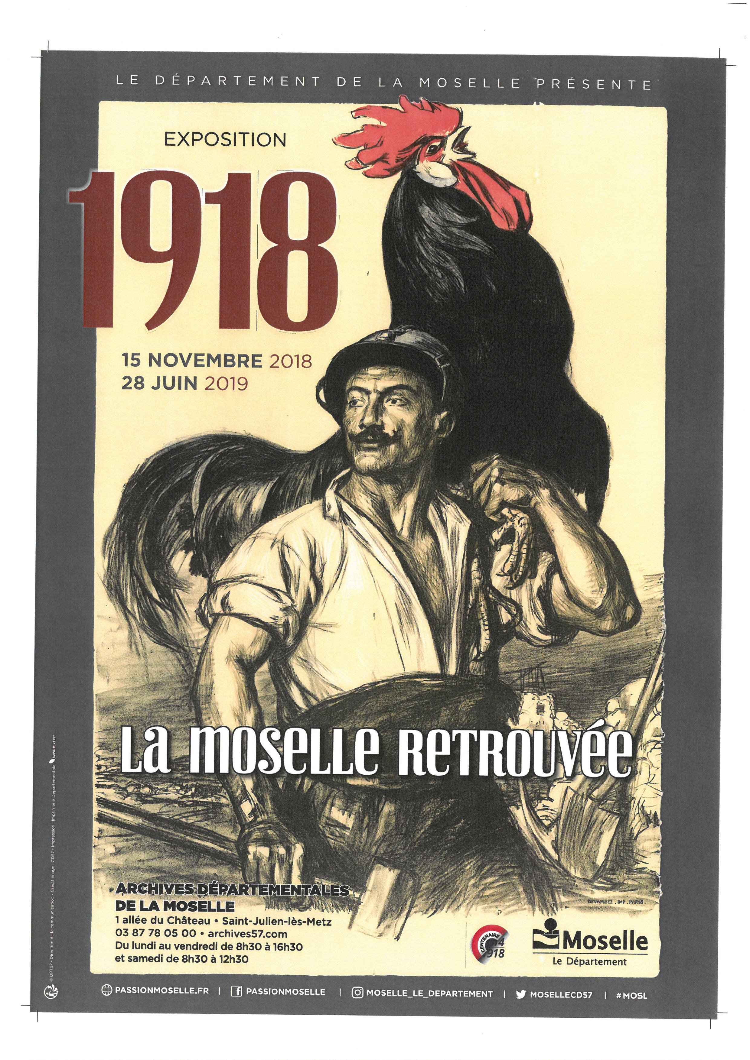 Affiche Expo 1918 ReconstruireMoselle